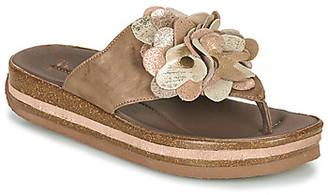 Think! ZEGA women's Flip flops / Sandals (Shoes) in Beige