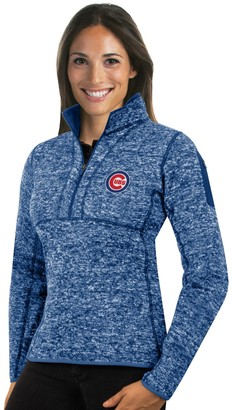 Antigua Women's Chicago Cubs Fortune Midweight Pullover Sweater