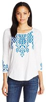 Lucky Brand Women's Tile Embroidered Tee