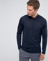 Selected Long Sleeve Knitted Polo