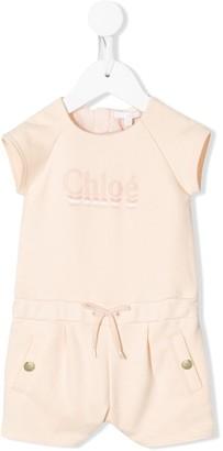 Chloé Kids Logo Romper Suit