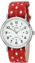 Timex Weekender Fabric Over Leather Slip-Thru Strap