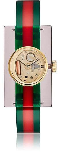 Gucci Women's Plexiglas® Skeleton Bangle Watch