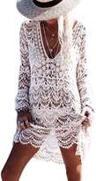 Lettre d'amour Women's Lace Long Sleeve Bikini Swimwear Cover Up Beach Dress