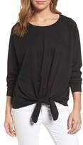 Women's Caslon Tie Front Sweatshirt