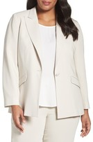 Louben Plus Size Women's Peak Lapel Suit Jacket