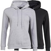 Brave Soul Womens Two Pack Clarence Hoodies Black/Grey