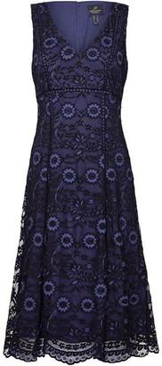 Adrianna Papell Natalia Lace A-Line Midi Dress