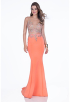 Terani Couture 1611P1011A Two-Piece Crystal Studded Mermaid Dress