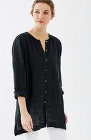 J. Jill Pure Jill Linen & Cotton Crinkled Shirt
