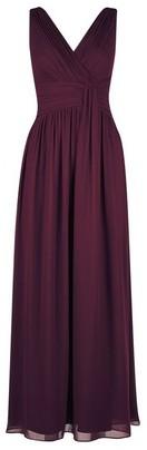 Dorothy Perkins Womens Petite Oxblood 'Darcy' Maxi Dress