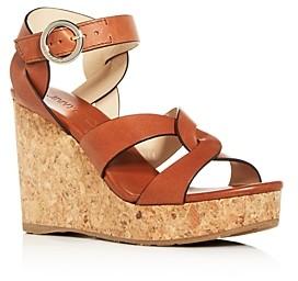 Jimmy Choo Women's Aleili 100 Platform Wedge Sandals