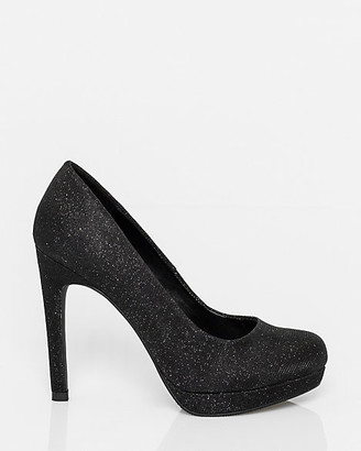 Le Château Metallic Almond Toe Platform Pump