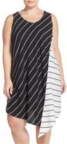 Halogen Asymmetrical Shift Dress (Plus Size)
