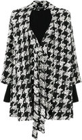 Balmain houndstooth cape coat