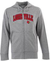 Antigua Men's Louisville Cardinals Signature Zip Front Fleece Hoodie