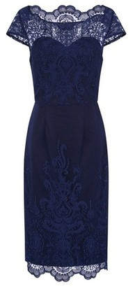 Dorothy Perkins Womens *Chi Chi London Navy Embroidered Bodycon Dress