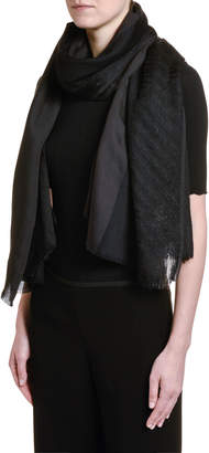 Giorgio Armani Metallic Wool Scarf, Black