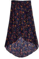 Madewell Faux-Wrap Midi Skirt in Climbing Vine