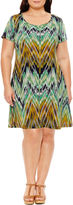 Ronni Nicole Short Sleeve Sheath Dress-Plus