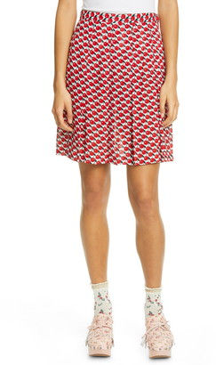 Anna Sui Cherries Print Miniskirt