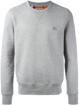 Burberry logo embroidery sweatshirt - men - Cotton/Polyester - S