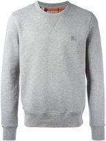 Burberry logo embroidery sweatshirt - men - Cotton/Polyester - XL