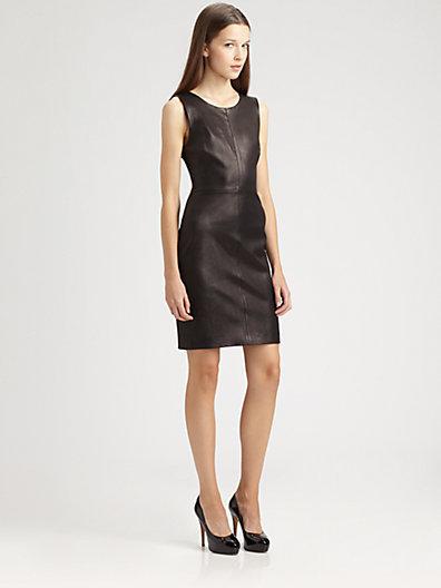 Theory Feria Leather Dress