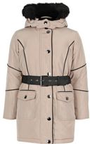 River Island Girls light pink hooded parka