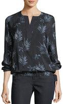 Lafayette 148 New York Joan Botanic Impression Silk Blouse
