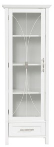 Elegant Home Fashions Delaney Linen Cabinet with 1 Door and 1 Bottom Drawer
