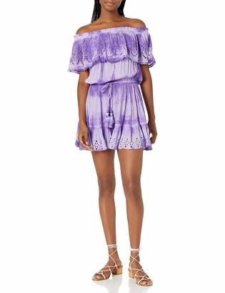 Ramy Brook Women's Marino Off The Shoulder Ruffle Coverup Dress