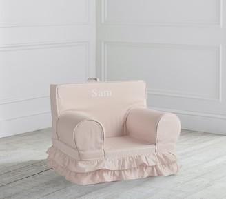 Pottery Barn Kids My First Dusty Blush Ruffle Anywhere Chair