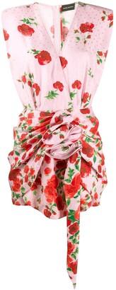 Magda Butrym Draped Floral Print Blouse