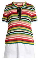No.21 NO. 21 Multicoloured striped knit top