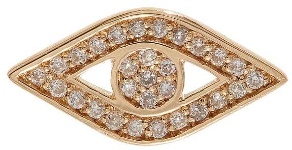 Sydney Evan Yellow Gold And Diamond Evil Eye Stud Earring