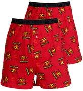 Godsen Men's Shorts Beach Short Casual Boardshorts Pack of 2 (,L)