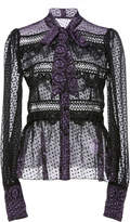 Anna Sui Fountains Of Fancy Clip Dot Jacquard Blouse
