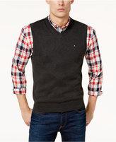 Tommy Hilfiger Men's Signature V-Neck Sweater Vest