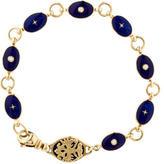 Faberge Enamel Diamond Link Bracelet