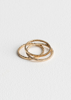And other stories Trio Ring Set