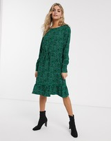 JDY Farhana ditsy floral long sleeve mini dress