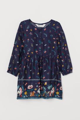 H&M Creped Dress - Blue