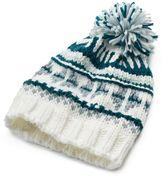 Mudd Women's Fairisle Knit Pom-Pom Beanie