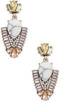 Sole Society Art Deco Drop Earrings