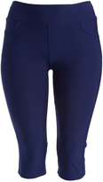 Navy Capri Jeggings - Plus