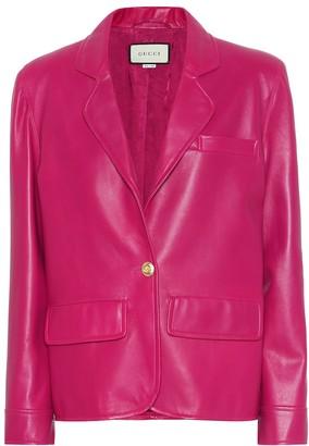 Gucci Leather blazer