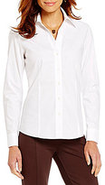 Investments Petites Gold Label Non-Iron Shirt Long Sleeve Button Front Shirt