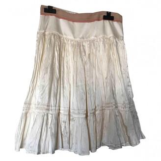 Sandro Ecru Silk Skirt for Women