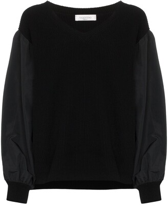 Valentino balloon-sleeve knit jumper